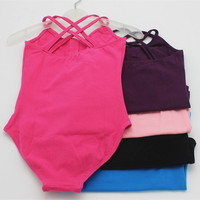 5 Color Girls Kid Gymnastics Dance Costume Ballet Bodysuit Leotard Dancewear
