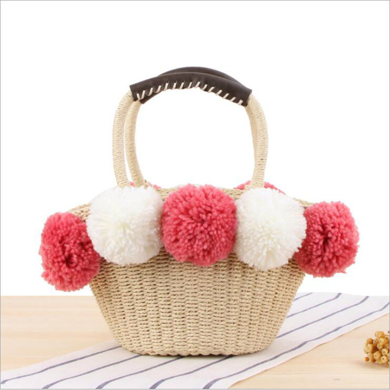 HTB1XMhWahrvK1RjSszeq6yObFXaa - Women Handbag Female Big Travel Vacation Totes Bamboo Handbag For Ladies Handmade Woven Straw Beach Bag Summer Women's Purse