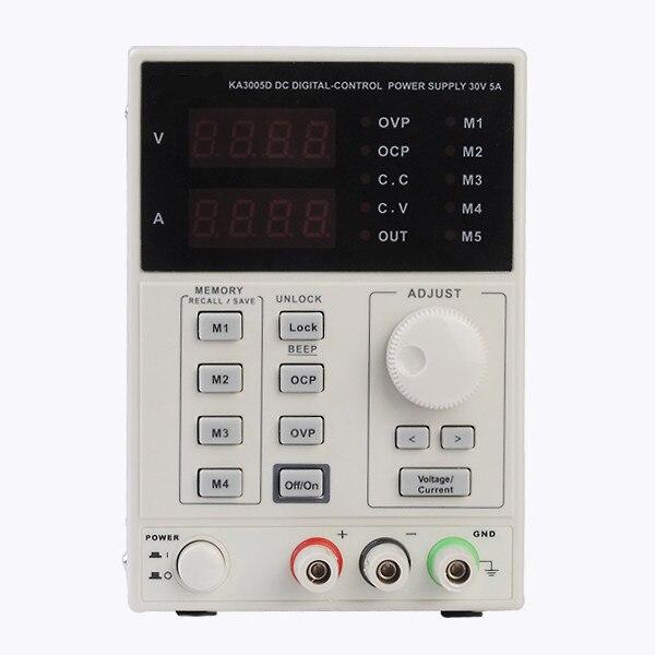 KA3005D 0 ~ 30 V 0 ~ 5A Précision Variable Réglable DC Alimentation Plug UE de Haute Qualité