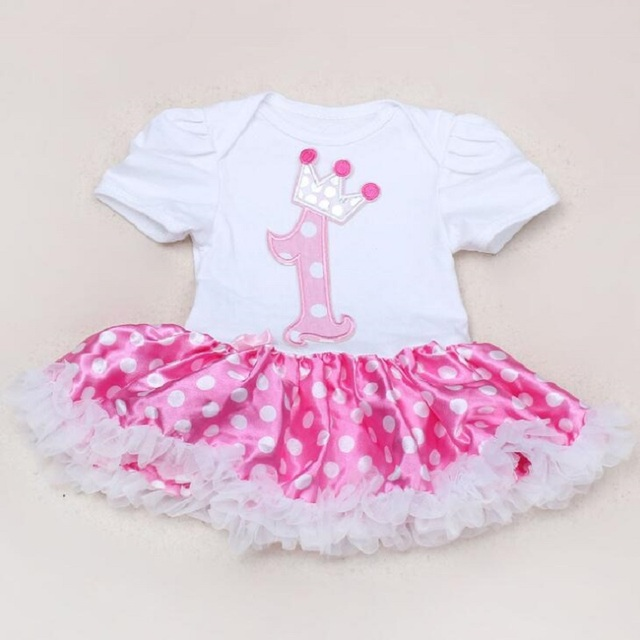Free shipping Summer New baby Polka Dot Romper Clothes Sets Short Sleeve Romper Tutu Dress Fashion Baby Girl Cotton Clothes Sets