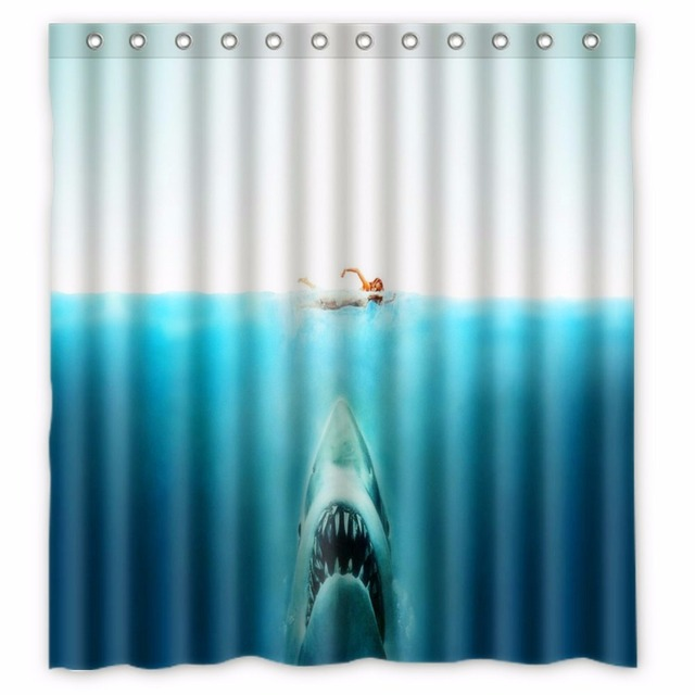 66 X72 Inch Finding Nemo Sharks Shower Curtain Waterproof Fabric