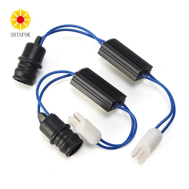 2x 12V LED Warning Canceller Decoder 501 T10 194 W5W NO Canbus OCB Error Load Resistor 2x car 1157 bay15d 1034 warning canceller error free load resistor led decoder