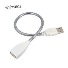 גמיש מתכת Usb הארכת כבל תאריך כבל זכר לנקבה הארכת כוח להחיל כבל צינור כבל עבור USB אור מנורה חלקי הנורה