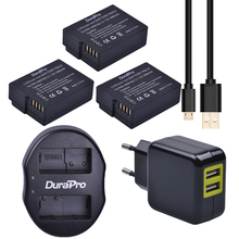 3x DMW-BLC12 BLC12E BLC12PP BLC12 Battery&USB Dual Charger+Adaptor for Panasonic Lumix FZ1000,FZ200,FZ300,G5,G6,G7,GH2,GX8 etc