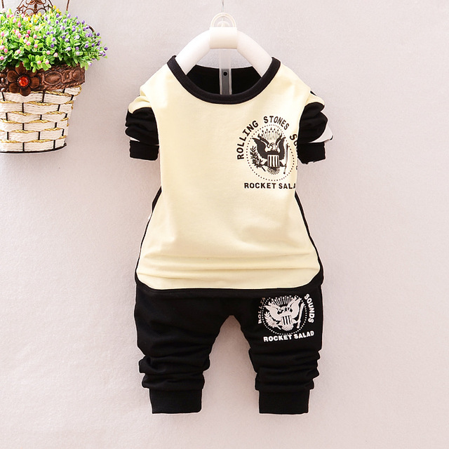 2016 new spring sport style Newborn baby boys track suit for newborn