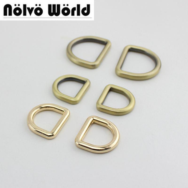 30pcs 5colors 19mm 32mm 5.0mm Ziny Alloy Gold Metal D Ring Diy Bags Strap Hardware Online Wholesale Shop Cheap 100pcs