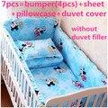 Promotion! 6/7PCS Cartoon Baby Bedding Set Baby cradle crib cot bedding set Quilt Cover  ,120*60/120*70cm