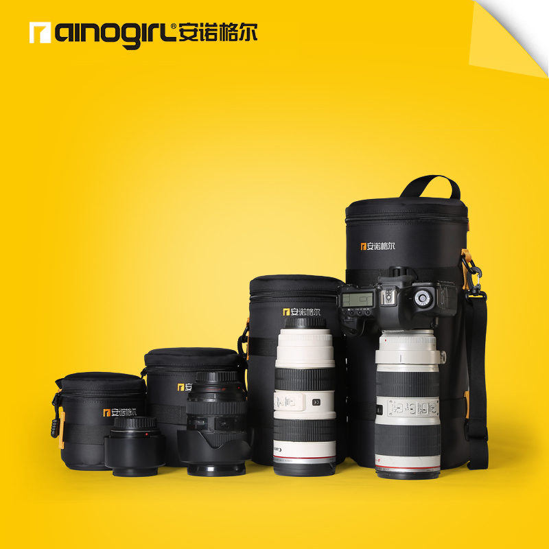 ФОТО AINOGIRL A1182 Video Camera Lens Tube SLR Cases Pouch Bag Case Thicken Anti-collision Anti-vibration With Waterproof Bags