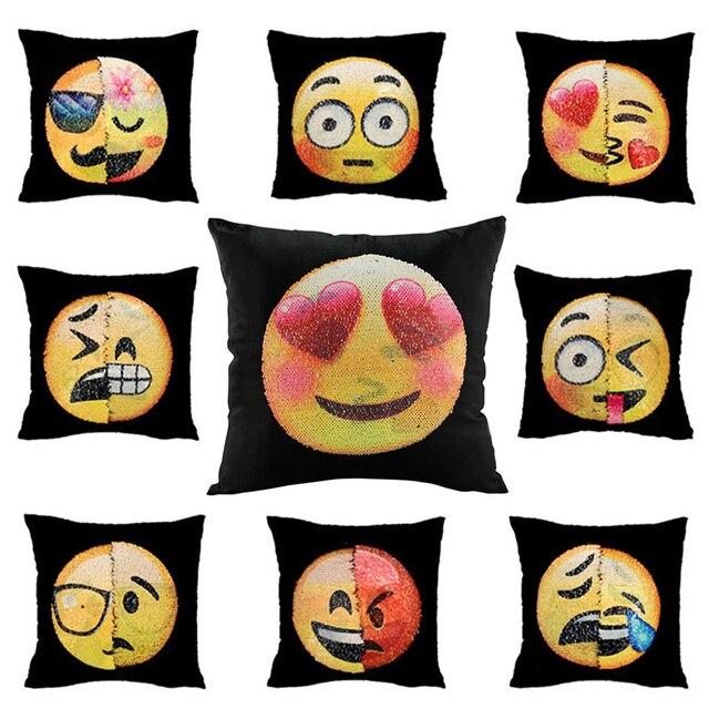 cute diy pillow cases. cute diy changing face emoji decorative pillows case sequin mermaid pillow smiley pillowcase cushion home diy cases i