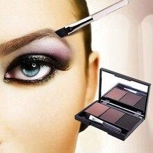 Eyebrow Powder Eye Brow Palette Cosmetic Makeup Shading Kit with Brush Mirror
