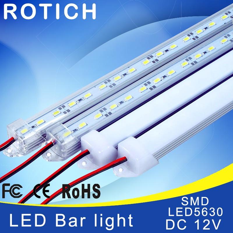 2pcs*50cm led rigid bar light  led aluminium profile smd 5630 DC 12V  table lamp led bar caravan under cabinet led lighting