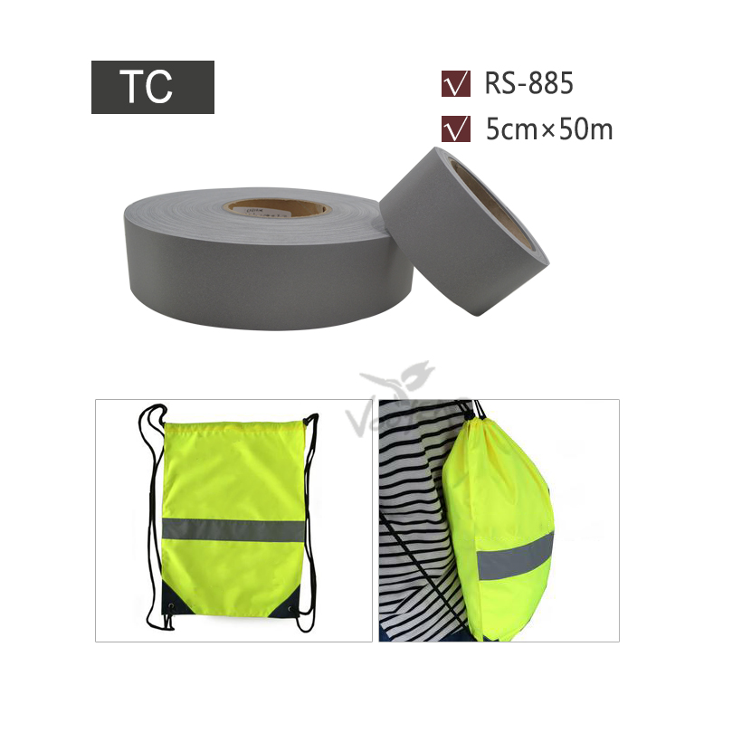 5cmx50m High Visibility Reflective Washable Fabric Suitable for Industrial clothing Free shipping