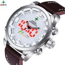 LED Montre Numérique Hommes Sport Montre Course LCD Montre-Bracelet Waches Hommes Analogique Numérique-Montre Hommes Quartz-Montre Sport Reloj Hombre