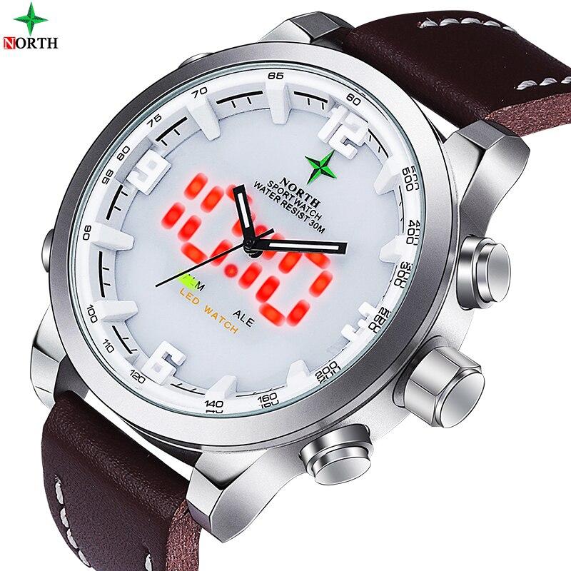 Reloj Digital LED Running LCD Reloj Waches hombres analógico Digital Reloj hombres Reloj de cuarzo deportes Reloj Hombre Deporte de los hombres reloj