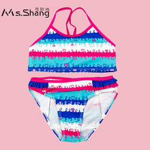 b302d2e679017 Ms.Shang Cute 2-6 Years Infant Baby Girl Swimsuit Bikinis Toddle Girl  Bathing Suit Striped Two Piece Children Swimwear Beachwear