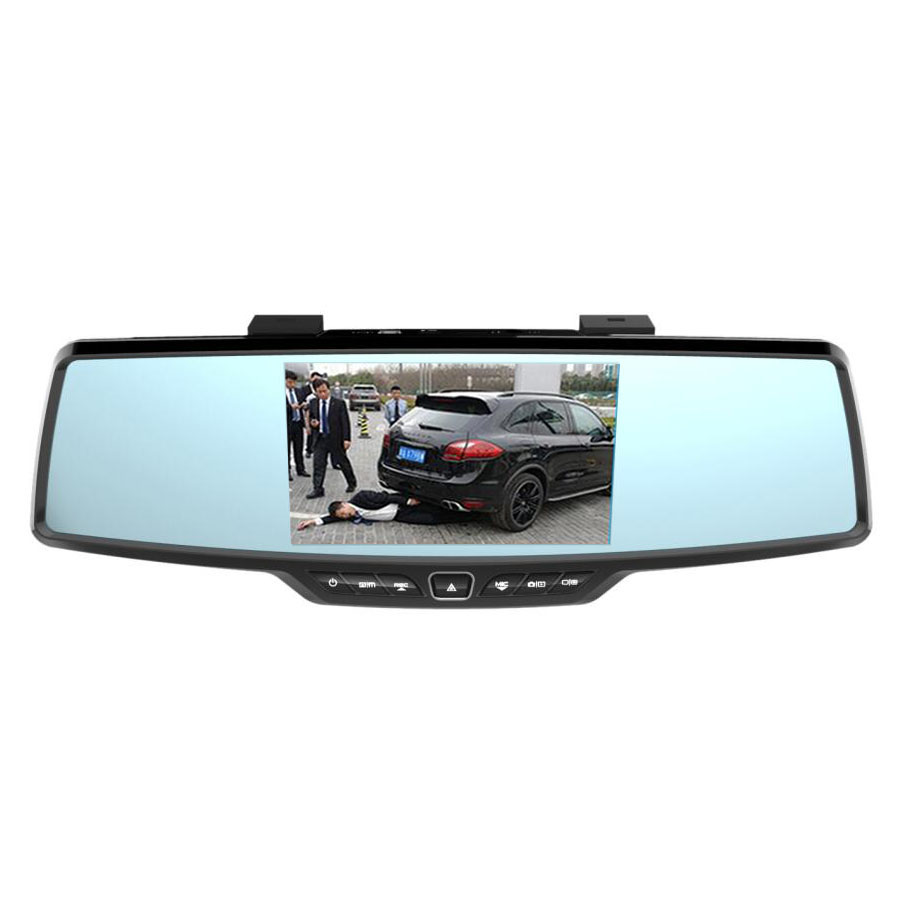 """NEW 4.3/""""  Video Recording Blackbox with Rear View Camera Rearview Mirror Car DVR"""