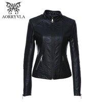 2020 nova moda feminina jaqueta de couro do vintage jaqueta de couro do plutônio feminino gola mandarim magro feminino preto falso outwear women leather jacket faux leather jacket leather jacket -