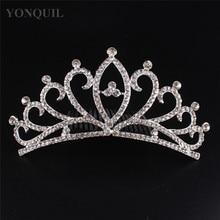 Free Shipping Fashion Rhinestone Crystals Flower Tiara Crown For Bridal Women Wedding Hair Jewelry Accessories 3pcs