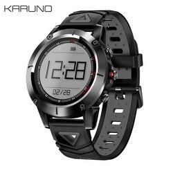 KARUNO G01 GPS Smart Watch Heart Rate Monitor Wristband Blood Pressure Blood Oxygen Bracelet Compass Swim Sport Fitness Tracker