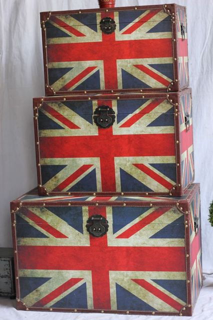 British Style Retro Furniture Trade Process To Do The Old Union Jack To Do  Big Box