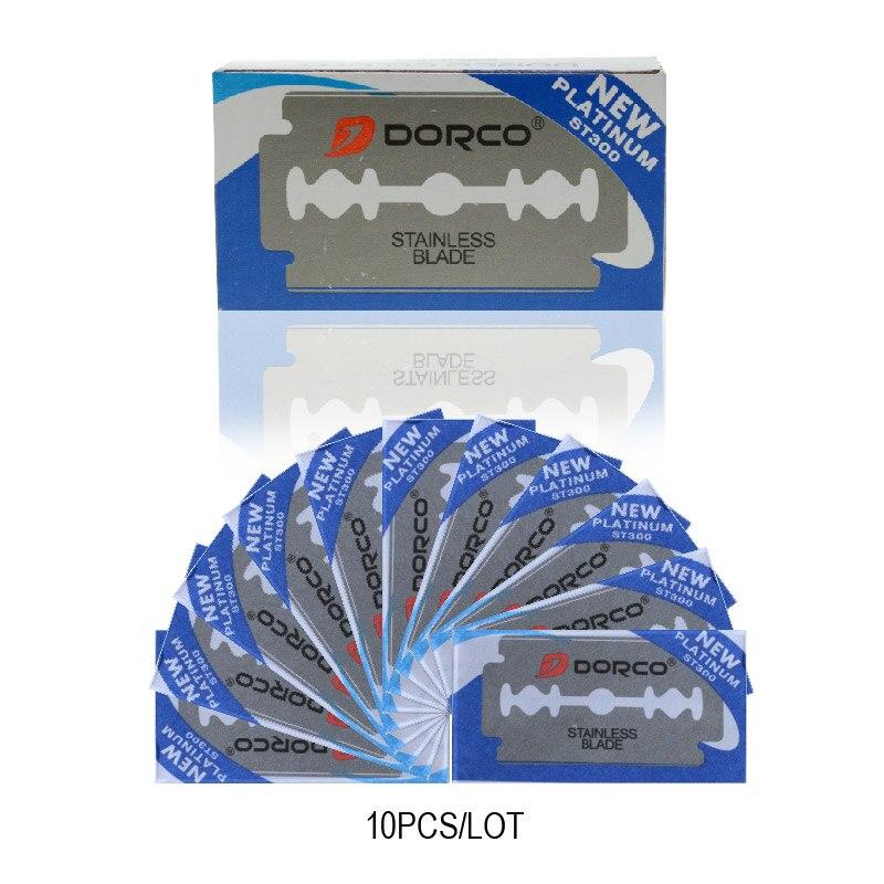 Dorco ST300 50pcs Razor Blades Stainless Steel Safety Razor Blades For Shaving Razor Men Shaver Lames De Rasoir Barber Blade