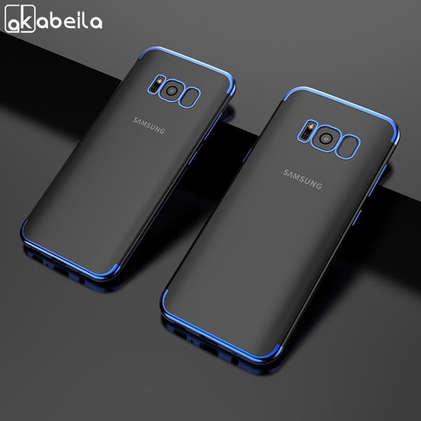 Soft Case For Samsung Galaxy S8 Cases Silicone Plated Fundas For Samsung S8 Plus Cover <font><b>G950F</b></font> G950FD S8+ G955F G955FD <font><b>SM</b></font>-G955 image