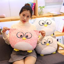 2019 Soft Stuffed Animal Owl Cushion Pillow Plush Animal Toys Cute Dog Doll Kids Gift Home Decor Soft Toys Pusheen(China)