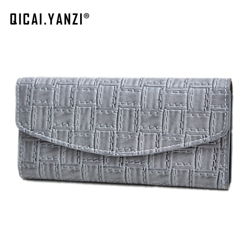 2017 100% Top Quality PU Long Wallet Women Fashion Casual Handbag Knit Folded Card Holder Bag Female Ladies Wallet Purse P300 casual weaving design card holder handbag hasp wallet for women