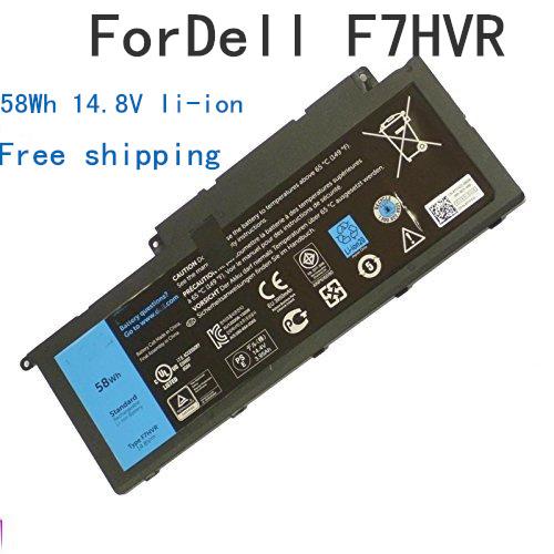 Nova F7HVR Y1FGD 62VNH 062VNH bateria do portátil para Dell INS15BD Ins17HD Inspiron 14 15r 15 5545 17 7000 7437 7537 7548 7737 7746
