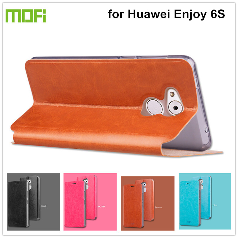 font b Mofi b font PU Leather Case for Huawei Enjoy 6S Cover Coque Gsm