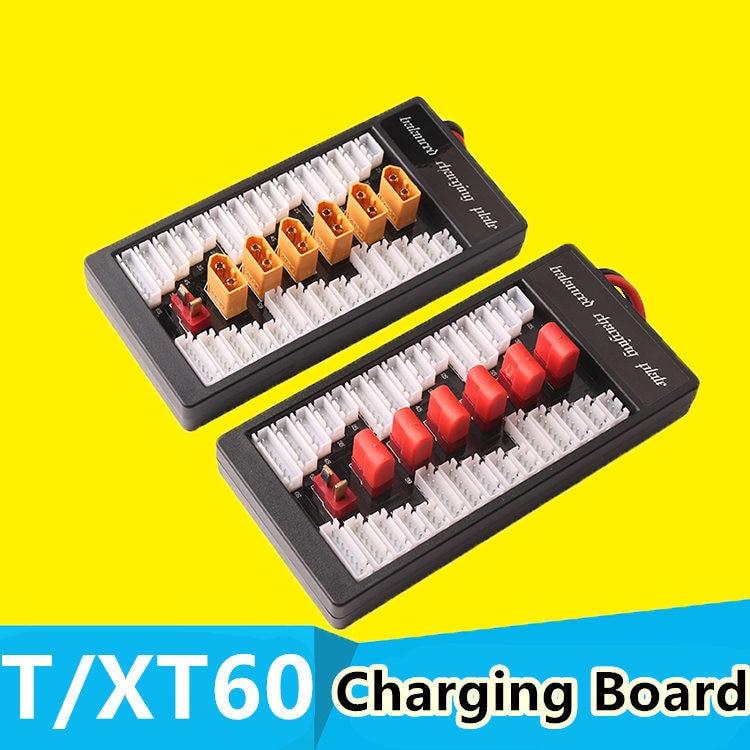 XT60/T enchufe Lipo tablero de carga paralelo 6 in1 cargador de batería placa para Imax B6 B6AC B8 RC FPV quadcopter montado clase