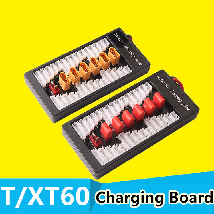 XT60/T plug Lipo Charging Board Parallel 6 in1 battery Charger Plate for Imax B6 B6AC B8 RC FPV Quadcopter Assembled class yuneec q500 battery parallel charging board compatible with imax b6 charger adapter