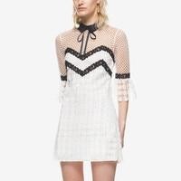 2018 new arrive white lace dresses S/M/L