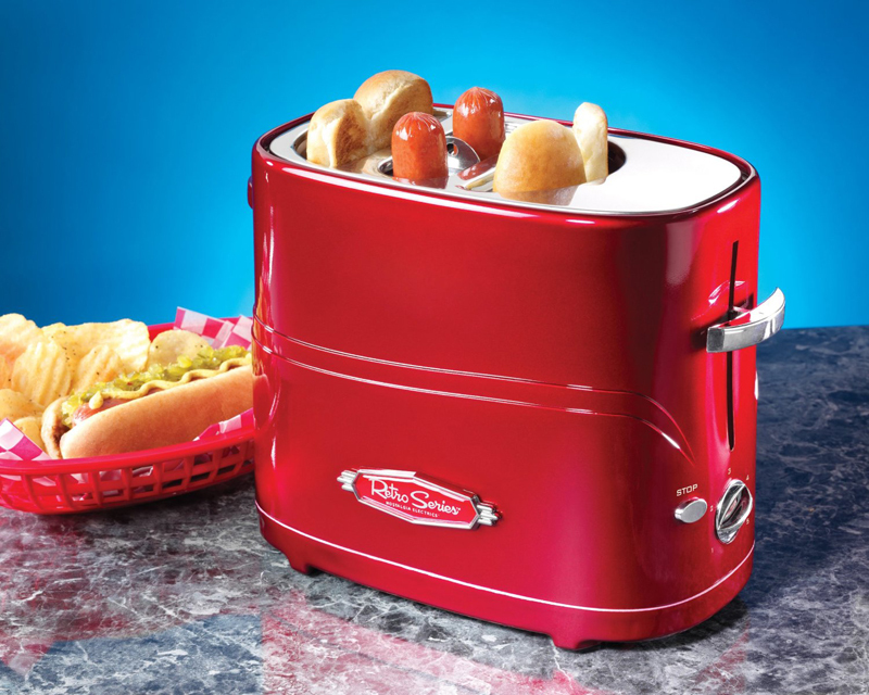 American Household Stainless Steel Automatic Mini Sausage Machine Hot Dog Machine Toaster