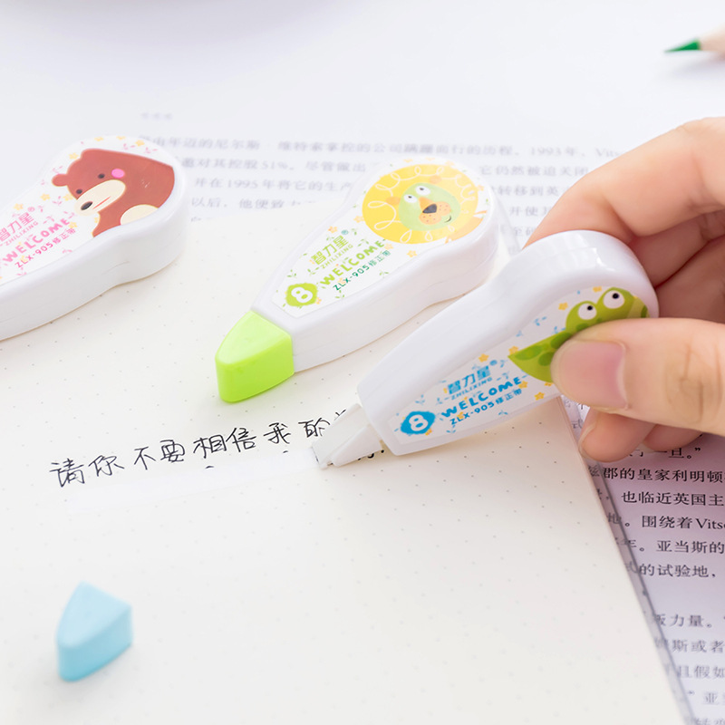 Clever Cartoon Animal Practical Correction Tape Promotional Gift Stationery Student Prize School Office Supply
