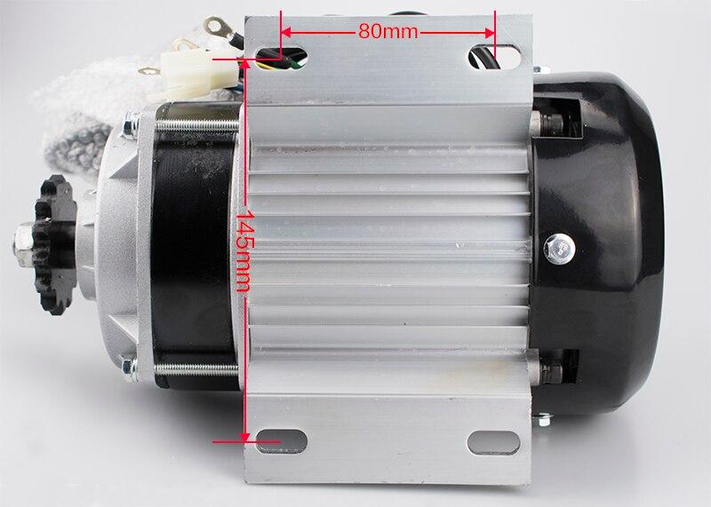 48 V 60 V DC 500 Watt Elektrische Dreirad Bürstenlosen Gleichstromgetriebemotor 2800 RPM E Dreirad Zubehör BM1418ZXF für Dreirad Motorrad - 6
