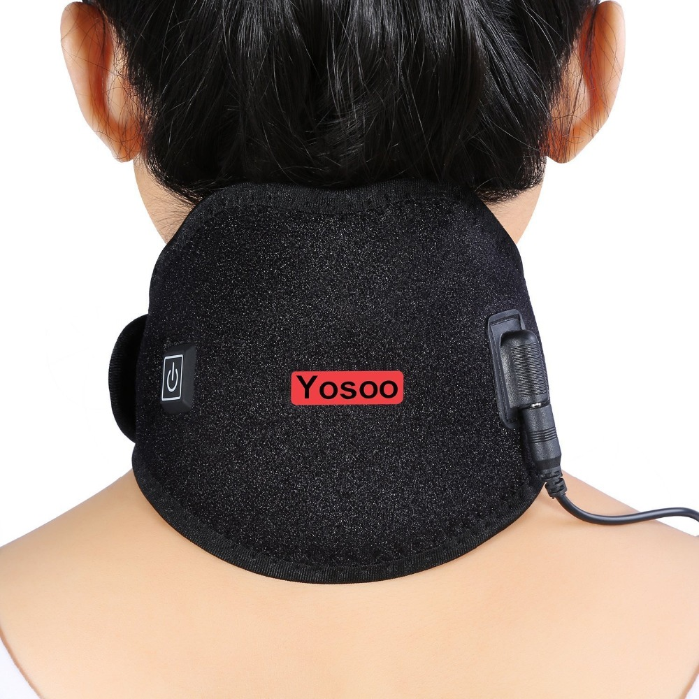 Yosoo Electric Neck Wrap Heating Pad Pack Brace Protector Strap Support Hot Cold Therapy Neck Shoulder Pain Relief Health Care