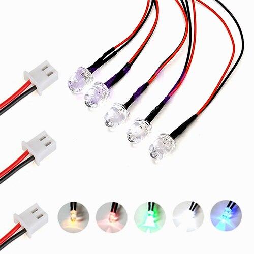 3mm White 5V 6V 7V DC Pre-Wired Water Clear Bright LED Leds Light 20CM 10pcs