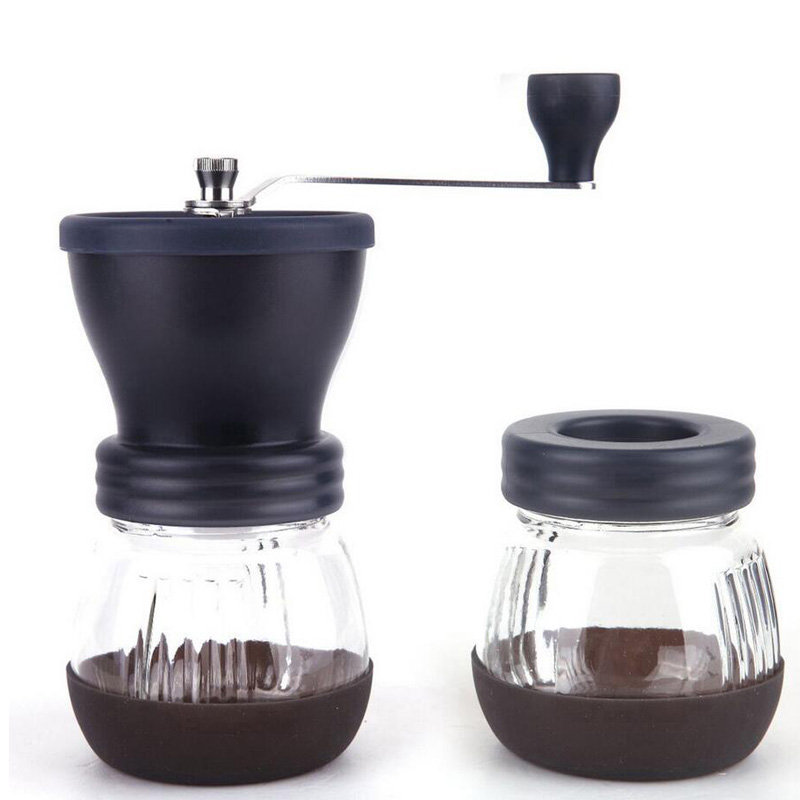 Manual Ceramic Coffee Grinder ABS Ceramic core Stainless Steel Burr grinder Kitchen DIY Mini Manual Hand Coffee Grinder