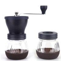 Manual Ceramic Coffee Grinder ABS Ceramic Core Stainless Steel Burr Grinder Kitchen DIY Mini Manual Hand