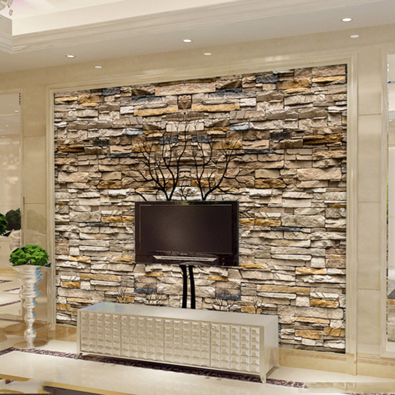 Aliexpress.com : Buy Custom Photo Wallpaper 3D Stone Wall Trunk Wallpaper Living  Room Sofa TV Background Wall Murals Wallpaper Papel De Parede 3D From ... Part 94