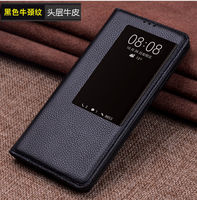 Genuine Leather Flip Cover Business Shell Wear resistant and scratch resistant For Huawei Mate 20 Por 20 X Phone Case