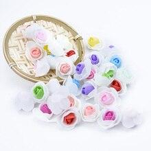 50pcs/100pcs Multicolor FOAM roses head PE fake decorative flowers wreaths diy gifts Wedding Party home decor artificial
