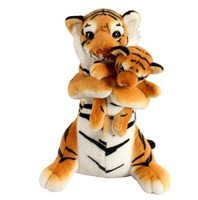 Simulation Mother and Child Tiger CUTE Stuffed Plush Toy FOR Birthday gift