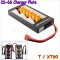 1 pcs de Alta Qualidade 2 S-6 S Lipo Bateria Carregador Placa De Placa de Carregamento Paralelo T Plug XT60 Ligue para Imax B6 B6AC B8 6 em 1