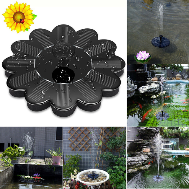 Super Outdoor Solar Powered Bird Bath Water Fountain Pump Solar Pond Pump Watering Kit for Pool&Garden&Aquarium Dropshipping