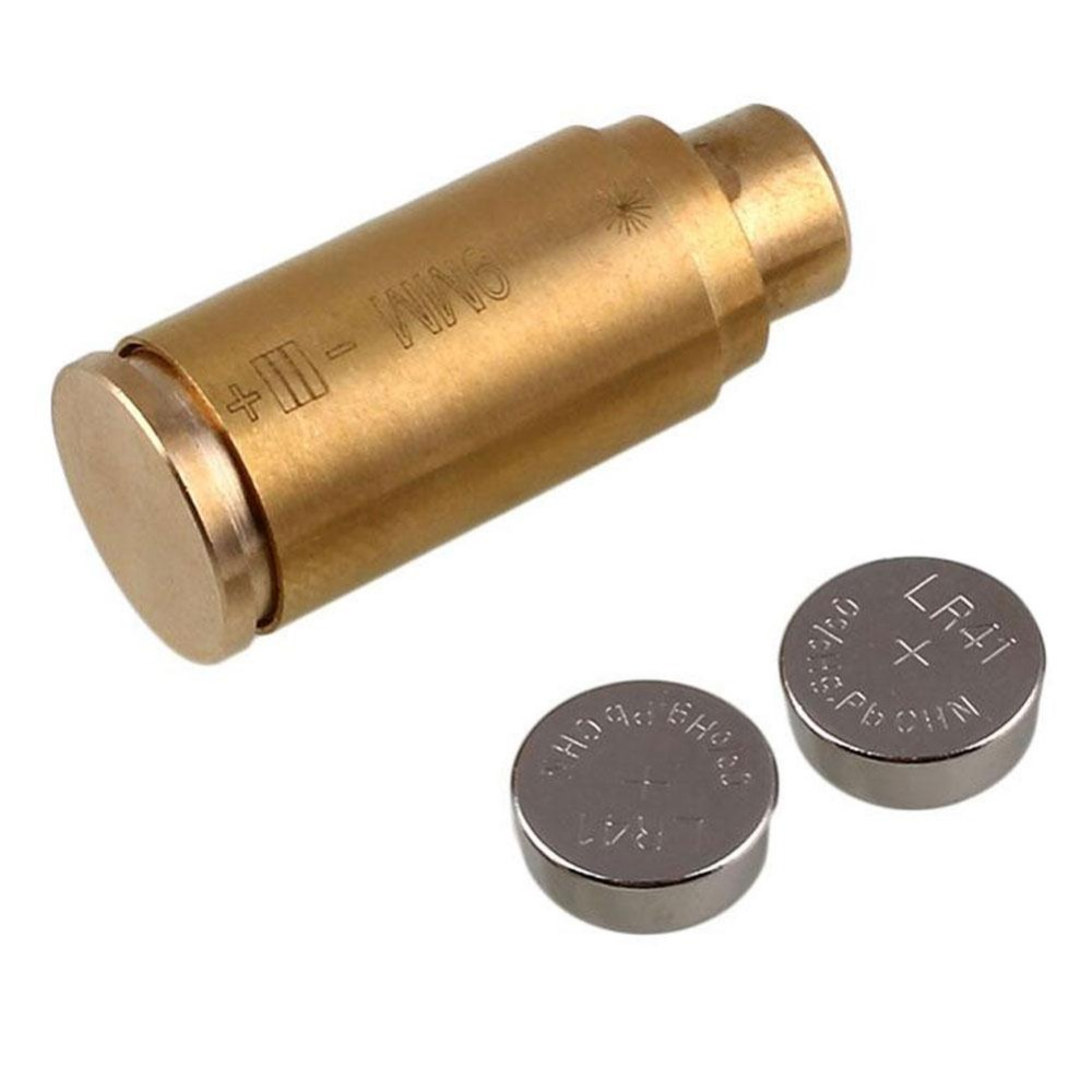 9mm Red Laser Dot Boresighter Bore Sighter Caliber Cartridge Brass Tactical Hunting Sighting Sight Boresight