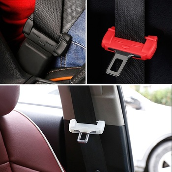 2x Car Styling Safety Belt Buckle Covers Padding Anti Scratch Silicon Car Accessories For BMW E46 E39 E90 E60 E36 F30 F10 E30 X1 image
