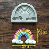 Rainbow Cloud Silicone Mold Cake Fondant Decorating Tools 3D Chocolate Candy Baking Clay Resin sugar Candy Fimo Sculpey k293