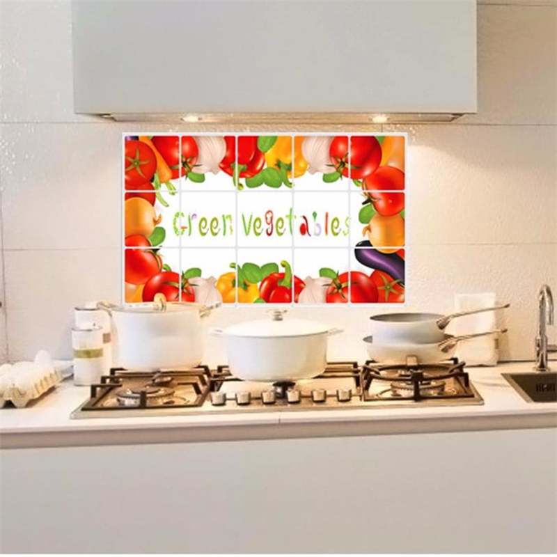 2018 New Fashion Kitchen Oilproof Removable Wall Stickers